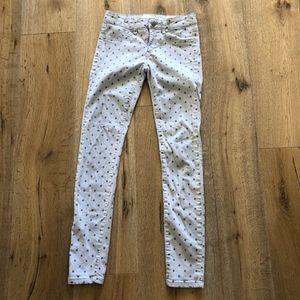 Joe's Jeans White Silver Dot Legging Pants